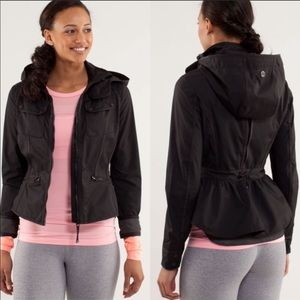 LULULEMON OUT AND ABOUT BLACK FIT FLARE JACKET 4